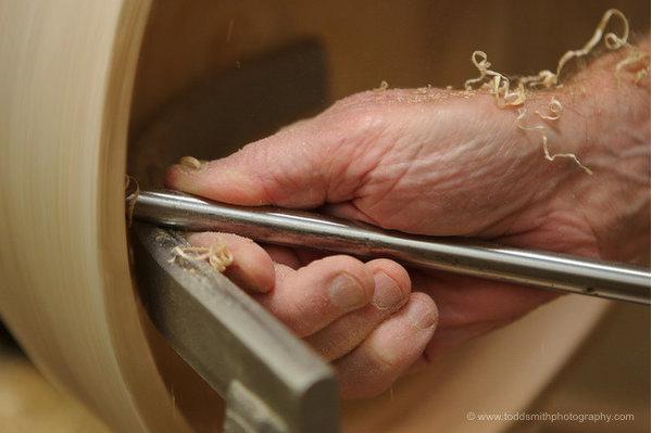 woodturner's hand