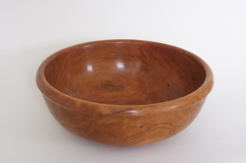 turned cherry wood bowl