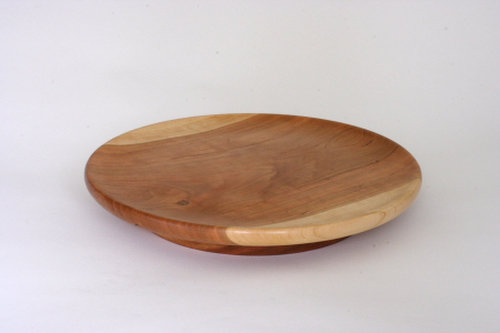 turned maple wood platters